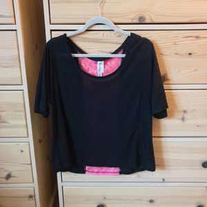 Ransom T-Shirt with Neon Pink Back Detail